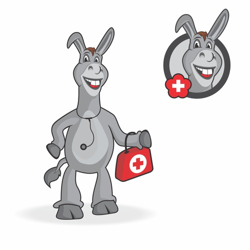 logo donkey charachter