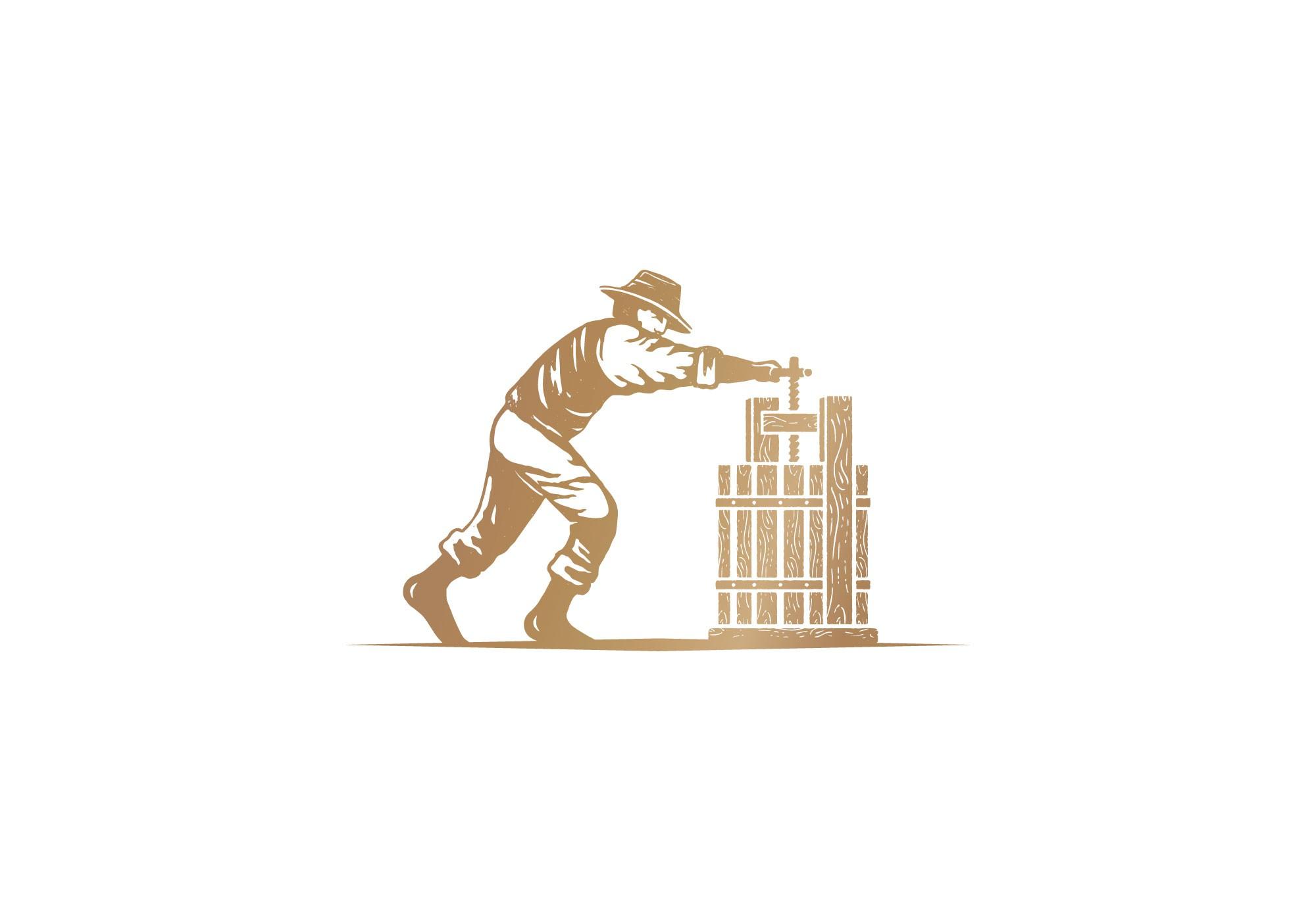 Create a brand logo design for Pressed Spirits - a premium grape-based distillery