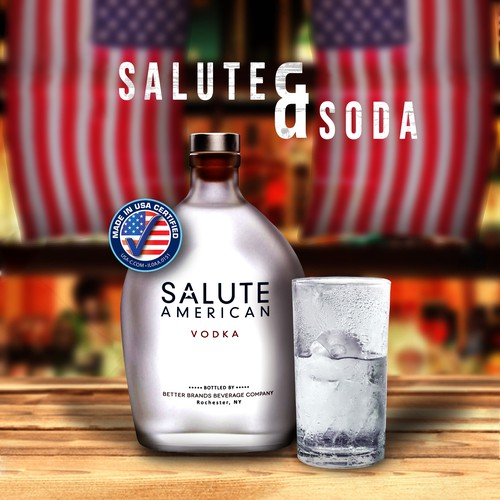 Ad campaign for an American vodka brand