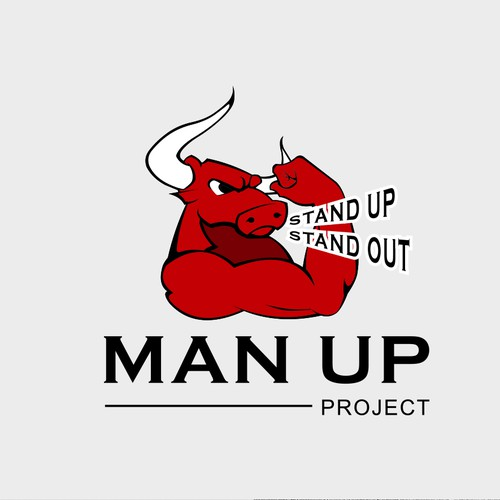 Manly logo for Man up Project