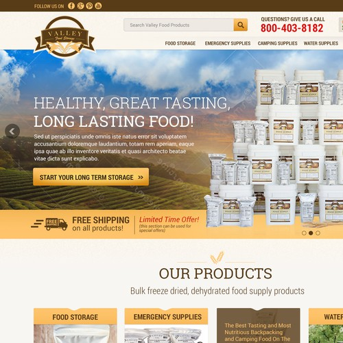 Design for Food storage company