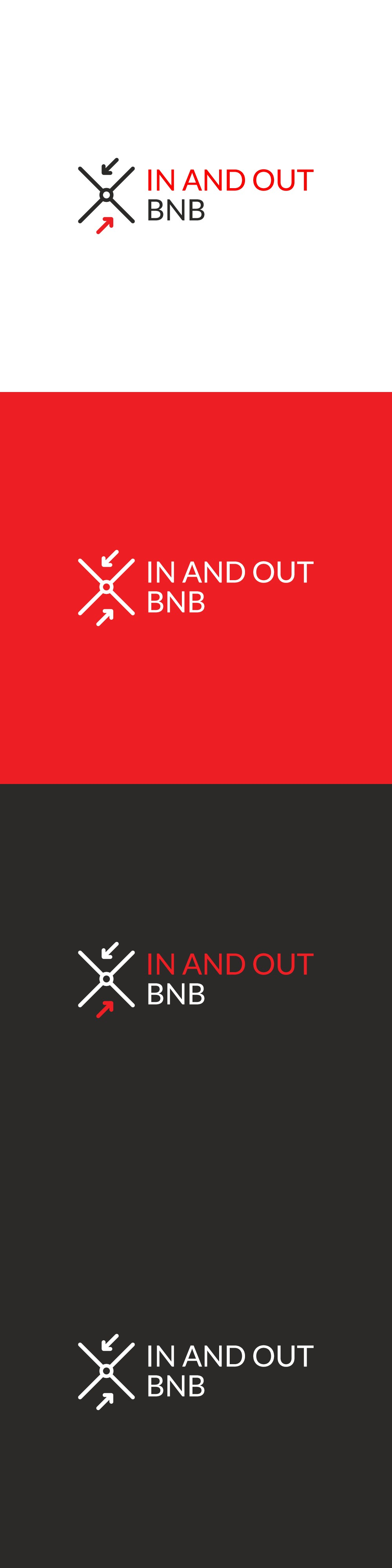Design a unique logo for in and out bnb