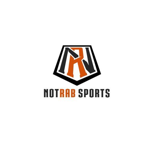 NR modern monogram logo