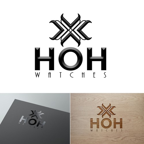 HOH Watches needs a new logo with an HOURGLASS used in it.