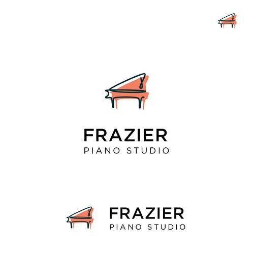 Logo concept for piano studio