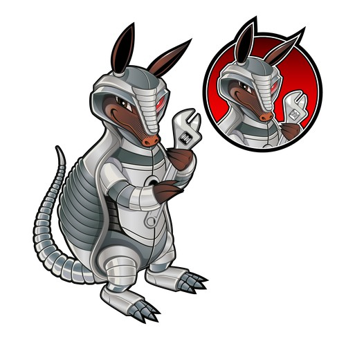 Armadillo Mascot