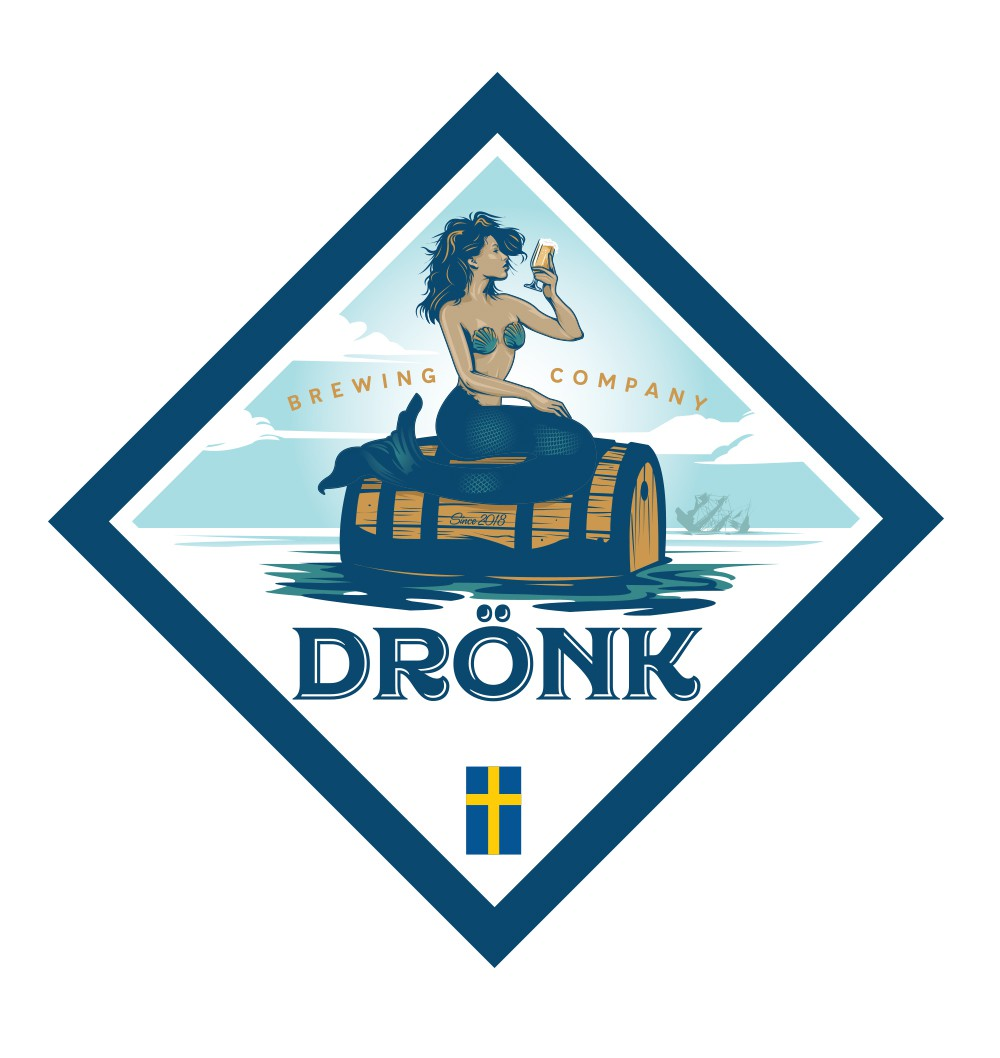 """Drönk"" another micro brewery logo"