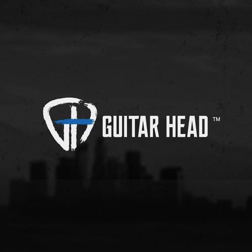 GUITAR HEAD logo design