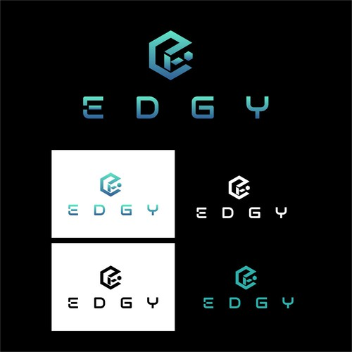 technology design themed logo