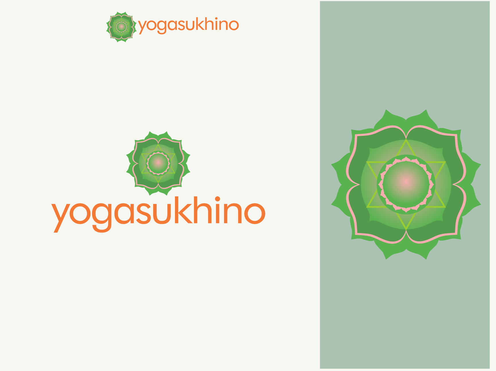create a joyful logo to inspire future yogis