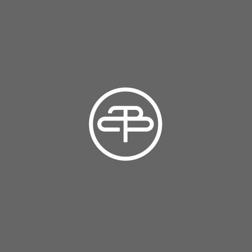 simple line letter Z + B
