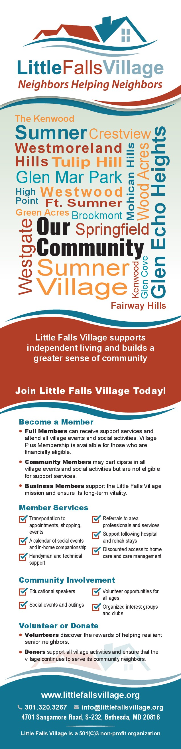 Little Falls Village is looking for a dynamic Rack Card