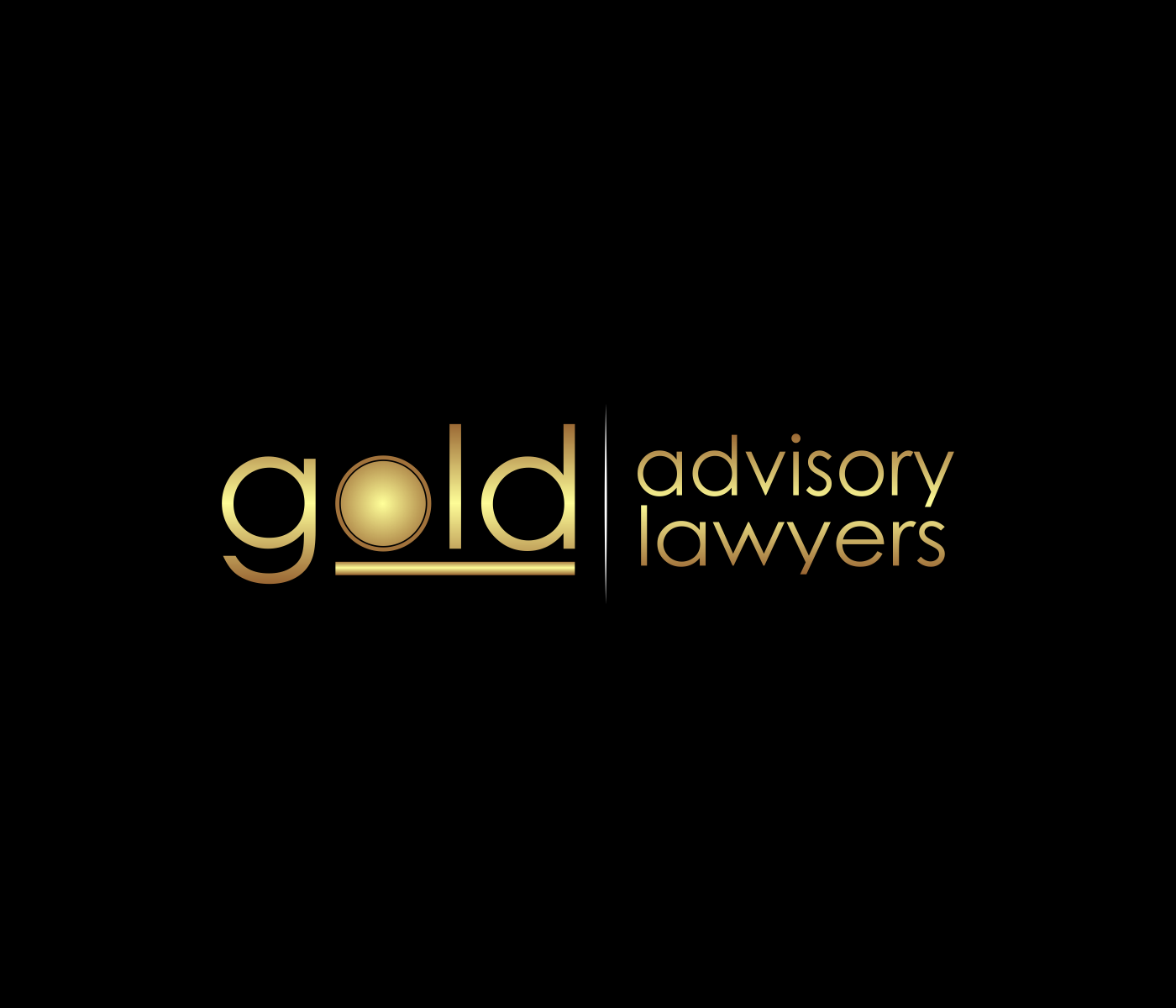 logo and business card for Gold Advisory Lawyers