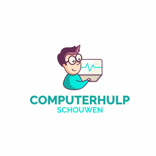 Сoncept logo for computer help services