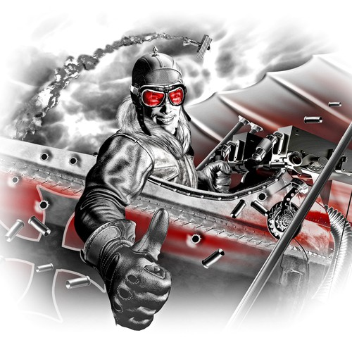 red baron illustration