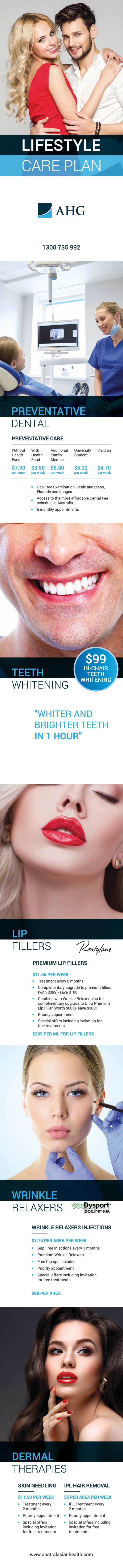 Flyer for a Medical Cosmetic and Dental Company
