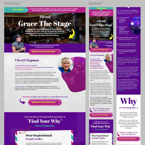 Event Page Redesign - Grace the stage