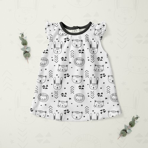 Pattern for kids clothing