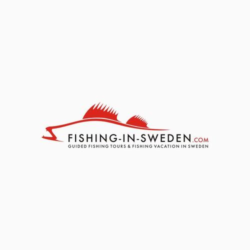 Creative logo for Fishing in Sweden - Kreatives Logo für Angeln in Schweden