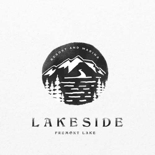 Lake resort logo