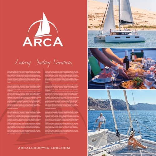 Brand Creative for Arca Luxury Vacations