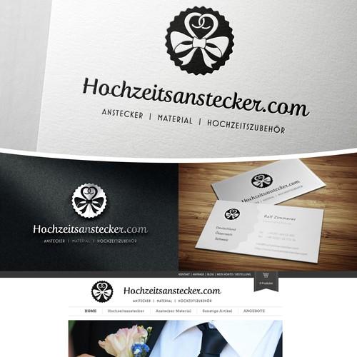 Logo-Design & Business-Card für Online-Shop   Kreatives Thema: HOCHZEIT