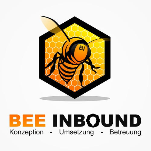 Logo and business card for Inbound Marketing agency - BEE INBOUND