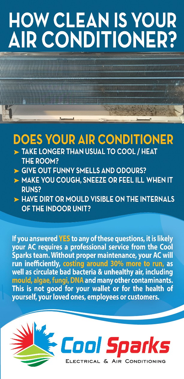 """Air Conditioning Service flyer that looks """"healthy and clean"""""""