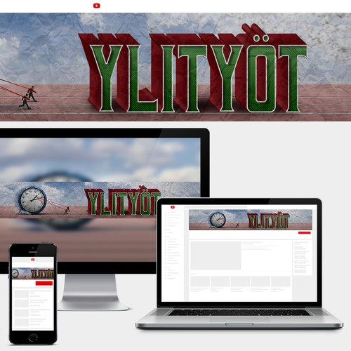 YouTube Cover Design for Ylityöt podcast channel