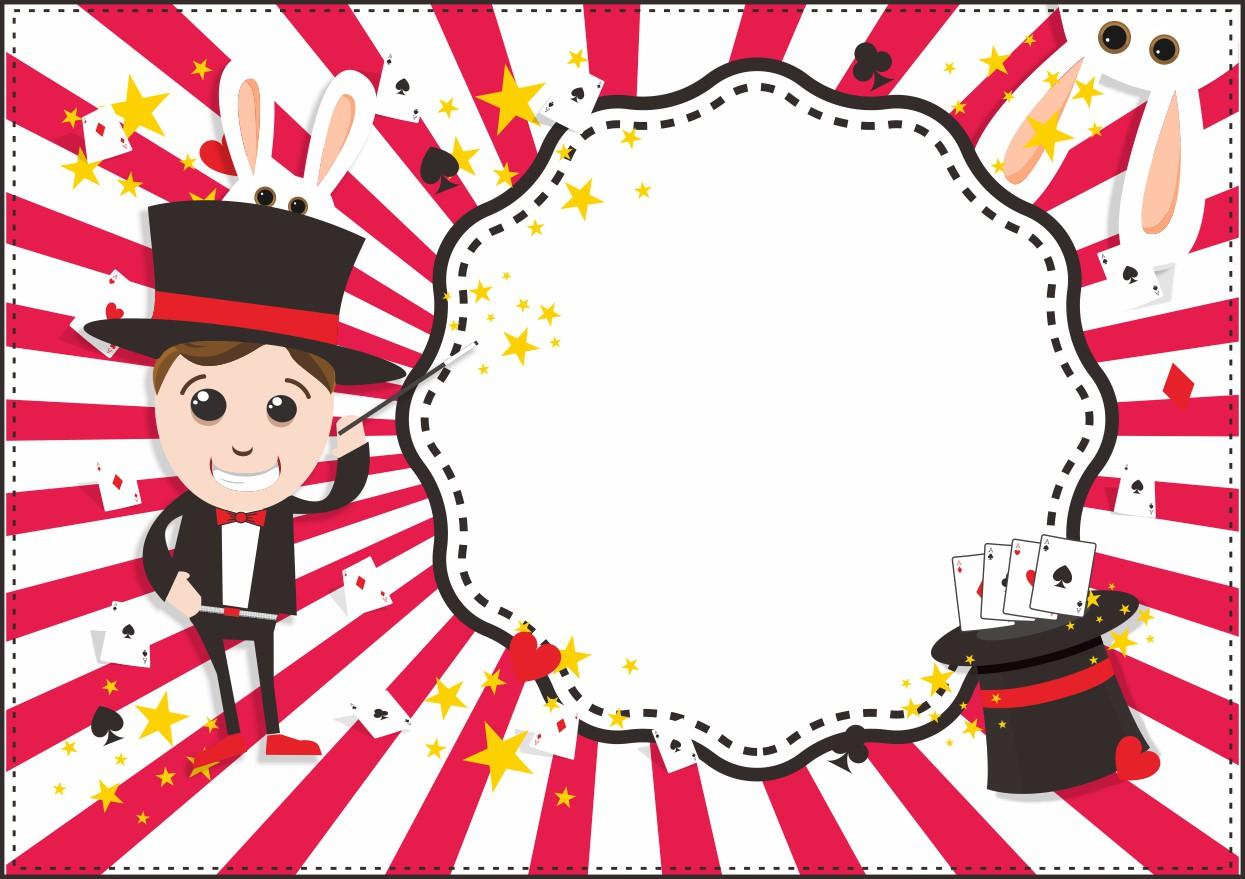 Invitation for kidsparty - magic theme - Einladung für Zauberer Kindergeburtstag