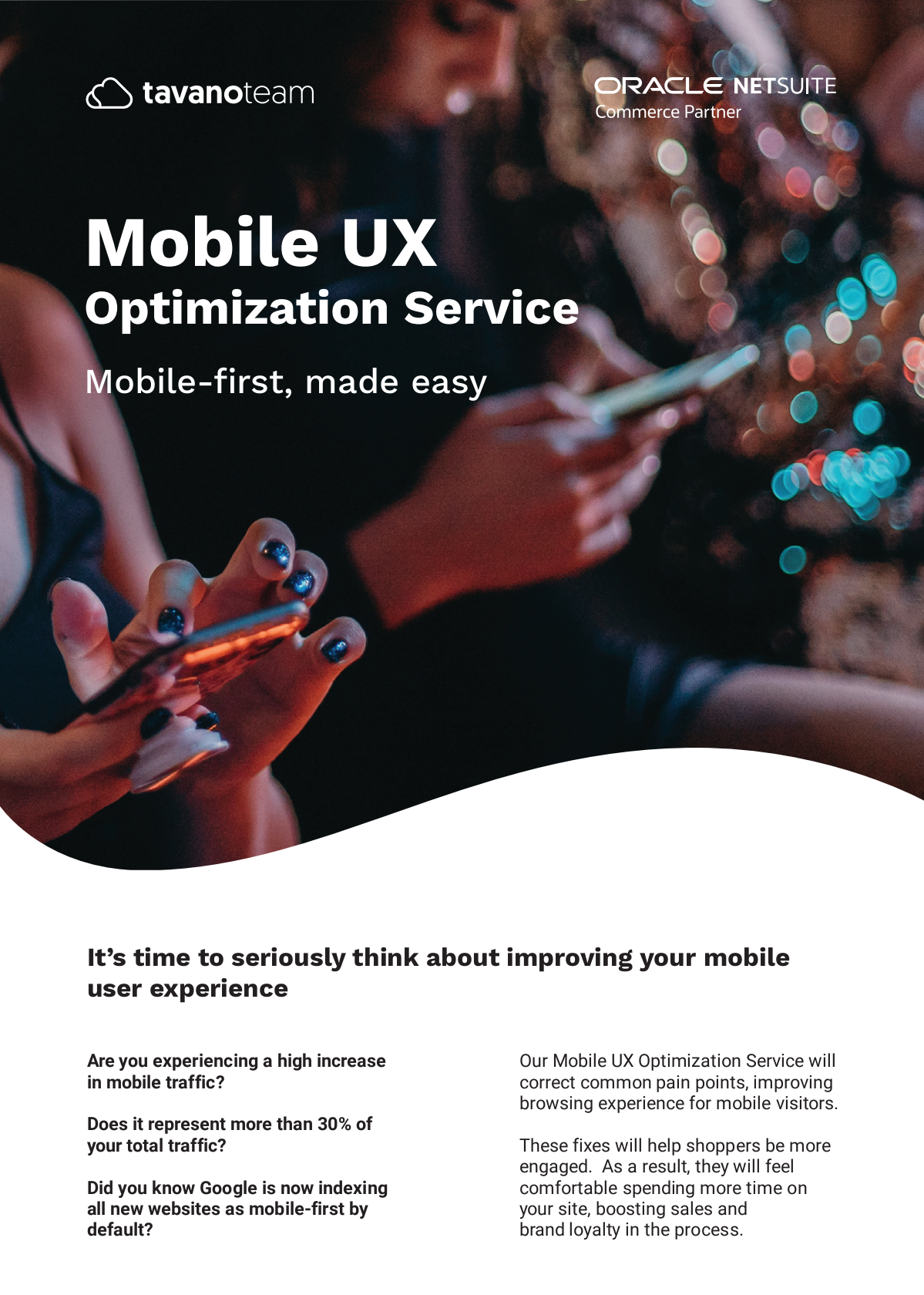 Mobile-first brochure A4