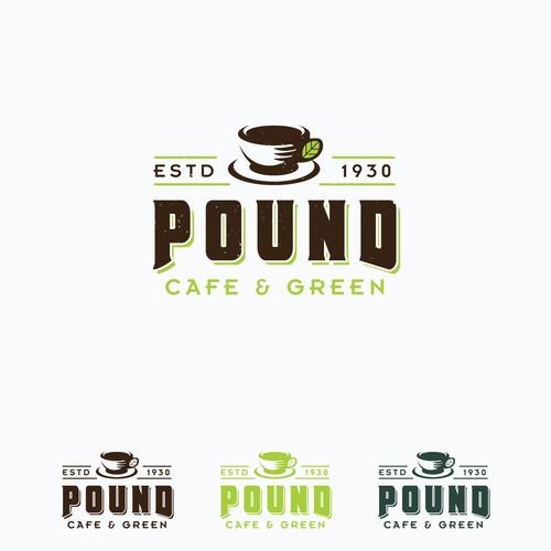 Pound Cafe Concept Logo