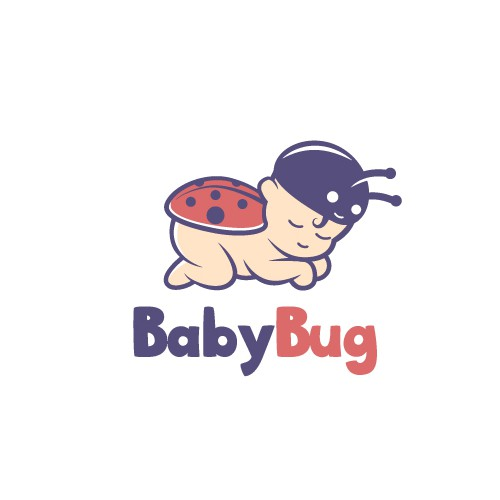 Fun and Cute logo design for a baby product company