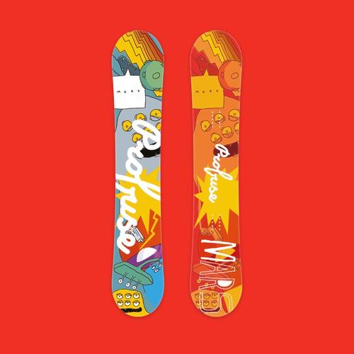 Profuse snowboarding