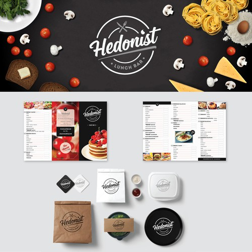 Visual Brand Identity for Hedonist Lunch Bar