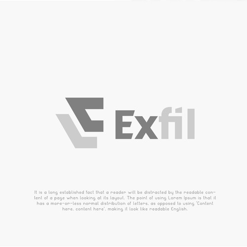 Exfil Logo Design