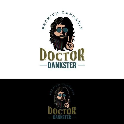 Cool logo of Doctor Dankster
