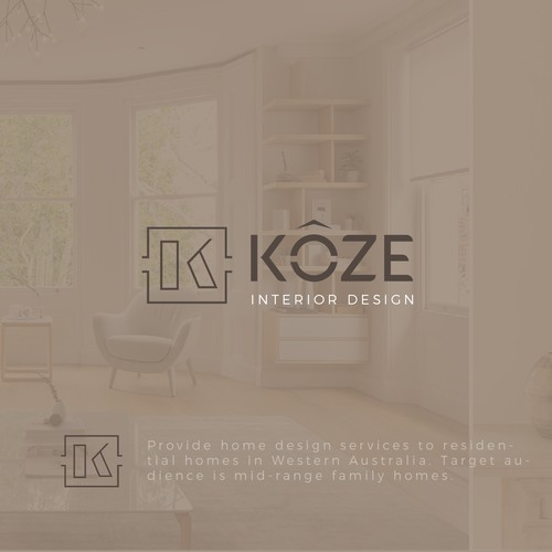 Logo for an interior design company
