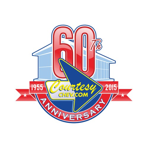 Logo Design for Chevrolet dealer 60th Anniversary logo