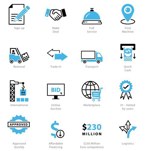 Icons for a logistics company