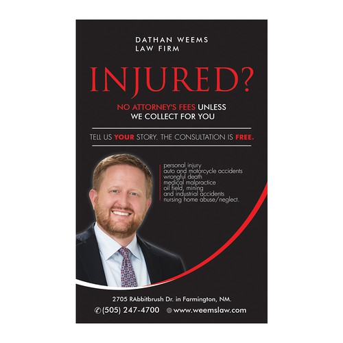 Law firm print ad