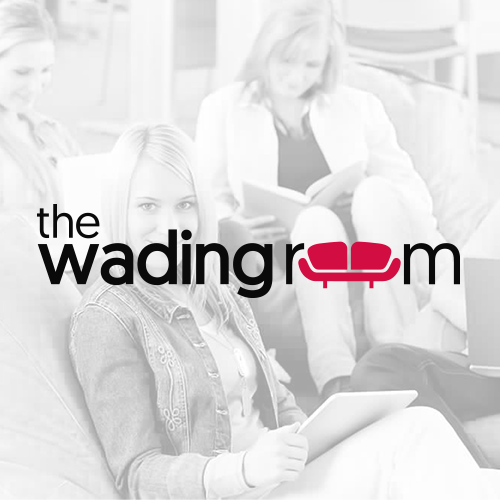 Create a simple and sleek logo and website for The Wading Room