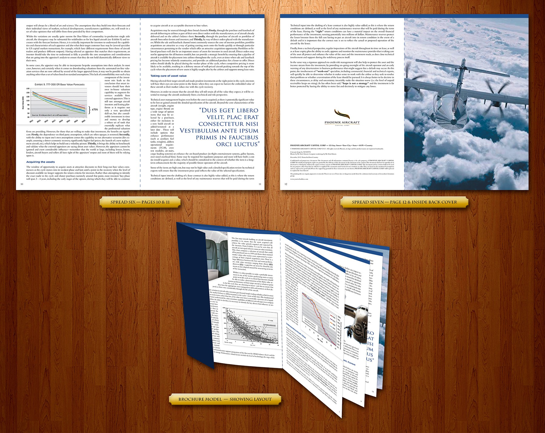 Help Phoenix Aircraft Capital Corp with a new brochure design