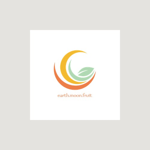 Moon shaped logo for a bath tea company.
