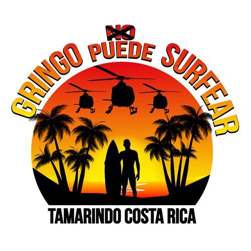 """T-Shirt Design """"Gringo PUEDE surfear"""""""