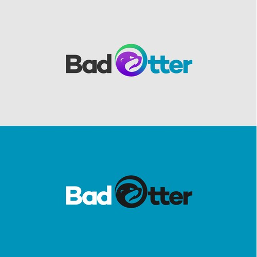 the logo concept for Bad Otter, an innovative clothing brand for lovers of outdoor activities such as water sports, mountain biking, golf etc ...