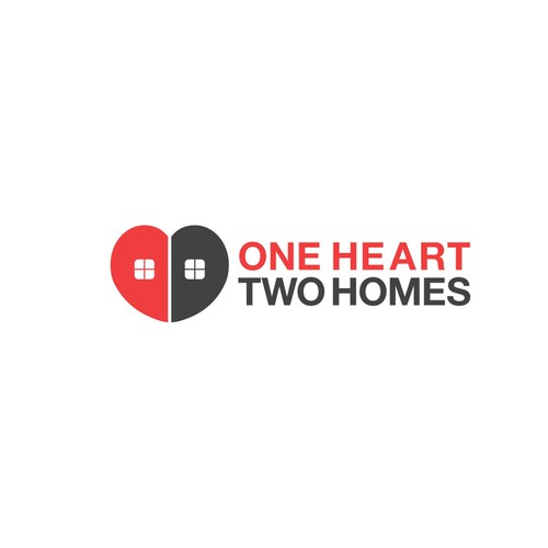 One Heart Two Homes logo with follow up work if won