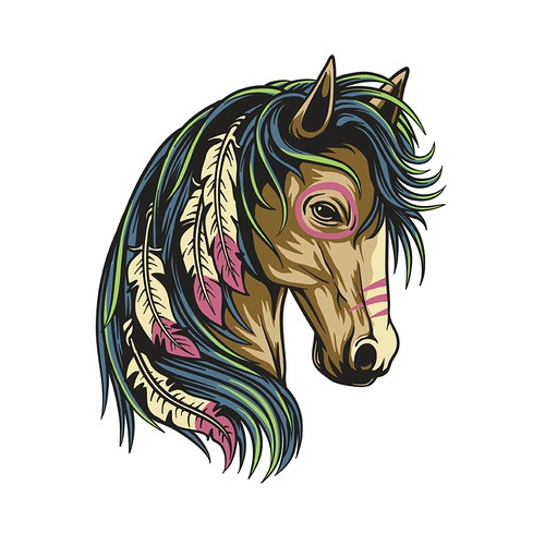 Unique Southwestern Horse T-Shirt