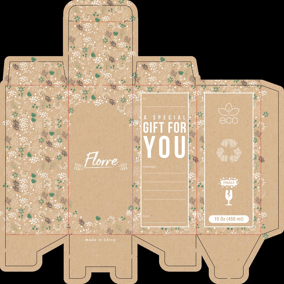 Packing for glass dispenser bottle - Verre