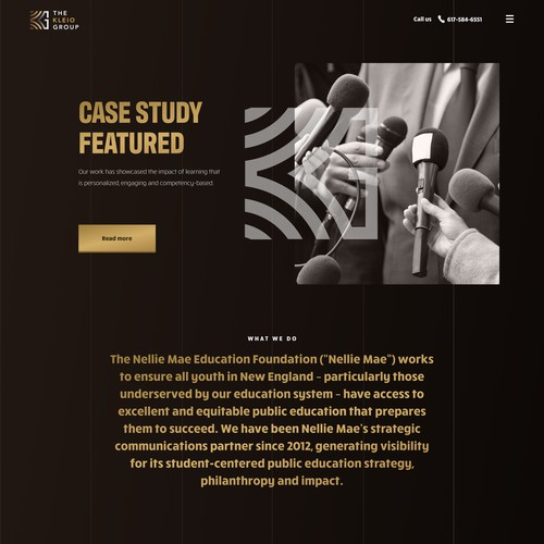 Case study page for kleio group